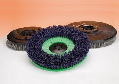 Cepillo de disco abrasivo con cerdas en Tynex o Carborundum para fregadora